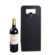 Hangnuo Luxury Two Bottle Wine Gift Bag Wine Carrier Bag Black