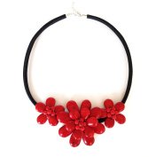 Red Coral Stones Necklace Arina. High Quality . and Elegant. Beautiful Necklace made of Natural Stone Necklace Handmade Gemstone Jewellery
