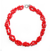 Red Coral Stones Necklace Danina. High Quality . and Elegant. Beautiful Necklace made of Natural Stone Necklace Handmade Gemstone Jewellery