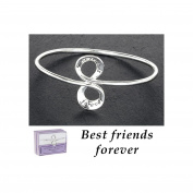 Equilibrium Silver Plated Figure of 8 Bangle Best Friends Forever