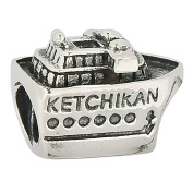 Ketchikan Alaska Cruise Ship 925 Sterling Silver Charm Travel Bead Fit European Charm Bracelets
