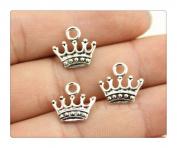10pcs 13*14mm antique silver plated crown charms