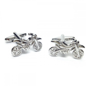 Mens Shirt Accessories - Dirt Bike Cufflinks (With Black Presentation Box) - Novelty Transport Theme Jewellery