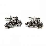 Mens Shirt Accessories - Classic Motorbike Cufflinks (With Black Presentation Box) - Novelty Transport Theme Jewellery
