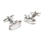Mens Shirt Accessories - Cruise Ship Liner Cufflinks (With Black Presentation Box) - Novelty Transport Theme Jewellery