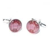 Mens Shirt Accessories - Penny Coin Cufflinks (With Black Presentation Box) - Novelty Casino Theme Jewellery
