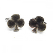 Mens Shirt Accessories - Clubs Card Suit Cufflinks (With Black Presentation Box) - Novelty Casino Theme Jewellery