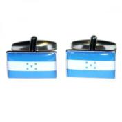 Mens Shirt Accessories - Honduras Flag Cufflinks (With Black Presentation Box) - Novelty World Flag Theme Jewellery