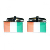 Mens Shirt Accessories - Cote d'Ivoire Flag Cufflinks (With Black Presentation Box) - Novelty World Flag Theme Jewellery