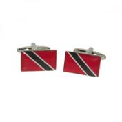 Mens Shirt Accessories - Trinidad And Tobago Flag Cufflinks (With Black Presentation Box) - Novelty World Flag Theme Jewellery