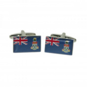Mens Shirt Accessories - Cayman Islands Flag Cufflinks (With Black Presentation Box) - Novelty World Flag Theme Jewellery