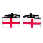 Mens Shirt Accessories - England St George Flag Cufflinks (With Black Presentation Box) - Novelty World Flag Theme Jewellery