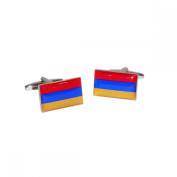 Mens Shirt Accessories - Armenia Flag Cufflinks (With Black Presentation Box) - Novelty World Flag Theme Jewellery