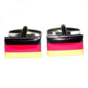 Mens Shirt Accessories - Germany Flag Cufflinks (With Black Presentation Box) - Novelty World Flag Theme Jewellery