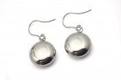 Shiny Polished Hollow Ball Dangle Stainless Steel Drop Earring