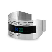 Wine Bottle Thermometer-JLTPH Steel Ring with Screen Wine Bottle Thermometer, Silver
