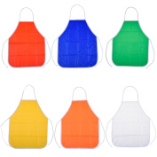 Blulu 6 Pack PVC Assorted Kids Children's Artist Apron for Classroom and Kitchen