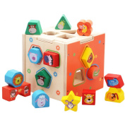 HXSS Kids Wooden Shape Sorting Toys