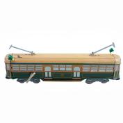 Wind up Orange Tram Small Tin Toy Train