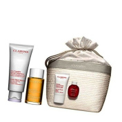CLARINS NEW Maternity Gift Set Beautiful Beginning Mum To Be + Stretch Mark Minimizer 200ml + Huil Tonic Body Treatment Oil 100ml + Beauty Flash Balm 15ml + Eau Dynamisante 15 ml + Cotton Gift Bag + 1 Pregnancy Book