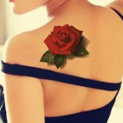 TAFLY 5 Sheets Waterproof Temporary Tattoo Body Stickers Sexy Rose Floral Red Colour Butterfly