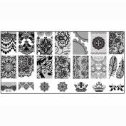 Amlaiworld 1PCS Nail Stamp Stamping Image Plate Print Nail Art Template DIY