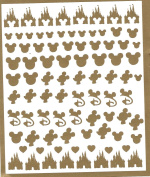 # Disney Press On Nail Stickers Collection (Gold) #