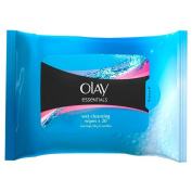 Olay Essentials Cleansing Sensitive Wipes (20) - Pack of 6