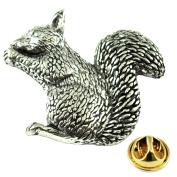 Squirrel English Pewter Lapel Pin Badge