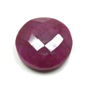 55Carat 25.2 Carat Loose Round Shape Natural Junk Ruby Gemstone