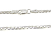 """Amberta 925 Sterling Silver 2.2 mm Bismark Chain Necklace 16"""" 18"""" 20"""" 22"""" 24"""" in Silver/Gold/Rose"""