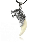 Vovotrade® Fashion Brave Man Wolf Tooth Necklace Titanium Steel Domineering Pendant Jewellery