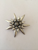 C1 Large Edelweiss pin badge fine english pewter pin badge with a prideindetails gift package