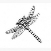 Dragonfly Pin Badge Brooch Gift, Supplied in Organza Bag
