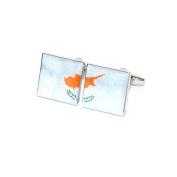 Cyprus Distressed Split Flag Cufflinks X2BOCS225