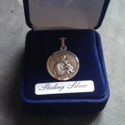 Sterling silver St. Joseph gift boxed medal 20mm