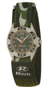 Kids Army Camouflage Watch - Quartz Movement - Camo hook and loop Strap