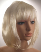 Fashionable Pretty Short Blonde Bob Babe Wig Girls Ladies 20s 60s 70s 80s 90s Fancy Dress Party Cosplay Hairstyle