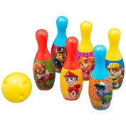 PAW PATROL BOWLING SET BALL PINS INDOOR OUTDOOR KIDS GIFT TOY SKITTLES GAME NEW