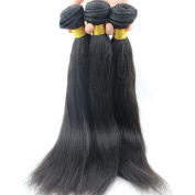 Atina hair Light Yaki Straight Human Hair Weave Grade 7A Brazilian Virgin Natural Yaky Weave Hair Extensions for Black Women