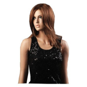 MELADY®(Free Cap) Fashion Casual Brown Medium-Long Curly Synthetic Women Girls Lady Hair Replacement Wigs