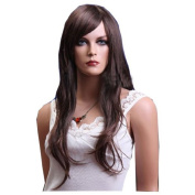 MELADY®(Free Cap) Fashion Casual Brown Long Curly Synthetic Women Girls Lady Hair Replacement Wigs