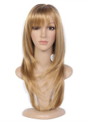 Beauty Smooth Hair Fashion . Long Ginger Blonde Straight Hair Wig for Women -Cosplay or Mannequins Carnival or Theme Parties 0909