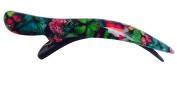 French Amie Large Butterfly Pattern Handmade Cellulose Beak Salon Hinge Side Slide In Alligator Beak Hair Clip Clamp