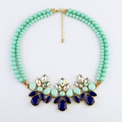 Lvxuan New Designer women Fashion jewellery Bohemia Chic Beaded Chain Drop Pendant Necklace For Christmas Gifts
