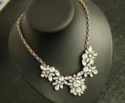 Lvxuan women Fashion Jewellery Resin Stone crystal Antique Bib Statement flower pendant Necklace