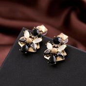 Lvxuan Vintage Earrings New Retro Water Drop Flowers Women Jewellery Brincos