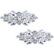 Horse eye Rhinestone Shoe buckle,full crystal shoe clips Accessories Fashion Bridal wedding shoes decoration
