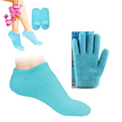 Pinkiou Soften Silicon Gloves and Socks Moisturise Cracked Skin Care Gel SPA