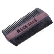 Green Sandalwood /Rosewood Hairand Beard Comb | No Static Detangling Natural Aroma Handmade Buffalo Horn Comb